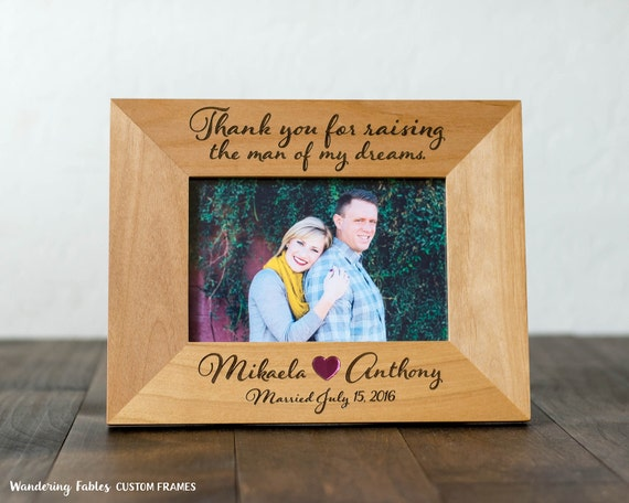 Custom 4x6 Picture Frame, Thank You Gift for Parents, Wedding, Mother ...