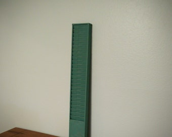 Vintage metal 25 slot time card rack, metal time card holder, industrial metal rack, office decor