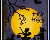Trick0or-Treat Handmade Halloween Card