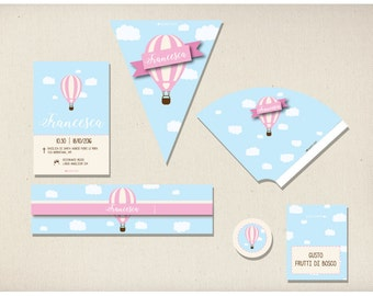 air balloon Pink Party kit