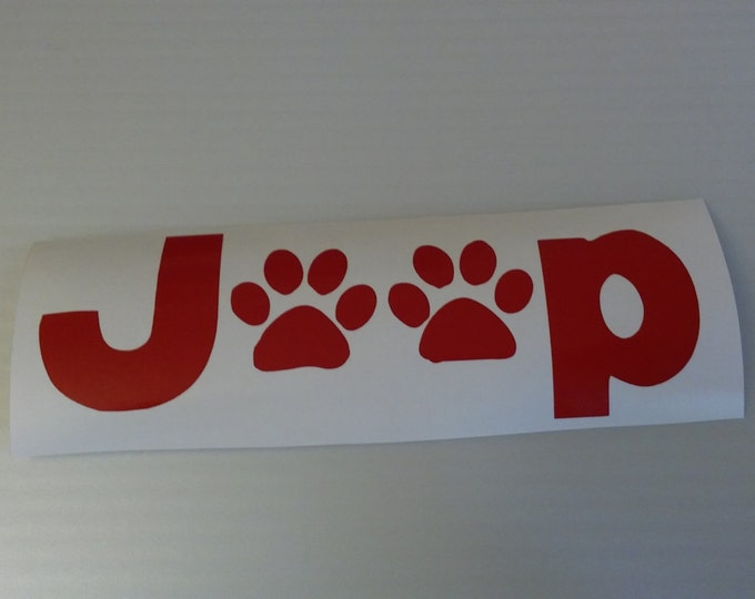Jeep Paw Print Vinyl Decal