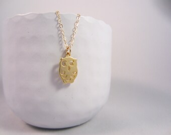 Necklace Owl - Gold 14 kt chain