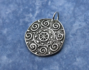 Sterling Silver Sun Charm – Tribal Sun Sterling Sun Charm – Tribal Jewelry Sterling Silver Charm – Ethnic Jewelry Sterling Charm Sun Jewelry
