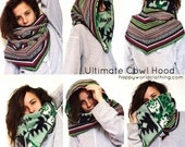 Unisex Fleece/Nepalese Hood Cowl | Unisex Custom Functional Fashion 4 in 1 ~ Five Traditional Nepalese Fabrics & Stretch Fleece
