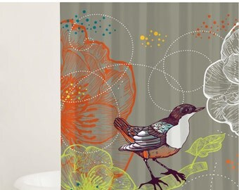Curtains Ideas bird shower curtain : Bird shower curtain | Etsy