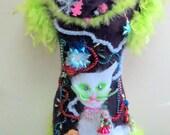 Meuy Christmas  custom xl cat sweater