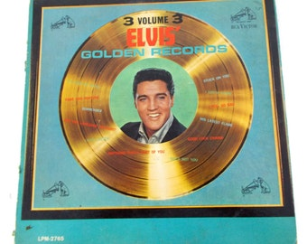 Elvis Golden Records Volume 3 RCA Victor LPM2765 Vinyl LP Record
