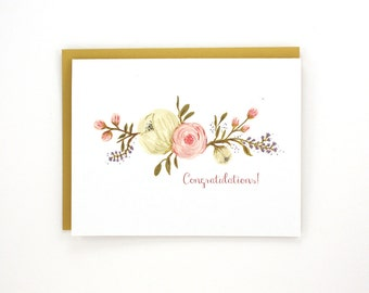 Congratulations - flowers - greeting card / WED-FLOWERS