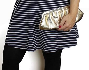 Vintage Gold Lame' Faux Leather Clutch