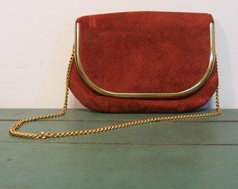 Vintage 1970s Swede Chain Strap Purse