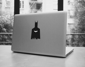 Batman city shadow silhouette for your macbook pro and air, ipad, laptop, stickers decal for 11,13,15,17""