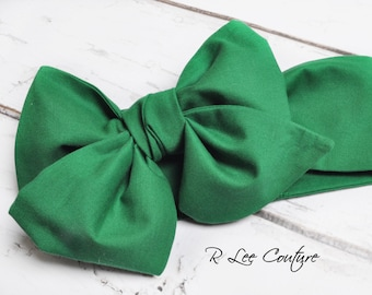 Green Headwrap - Bow Headwrap -  Head Wrap - Baby Headwrap - Green Hair Bow