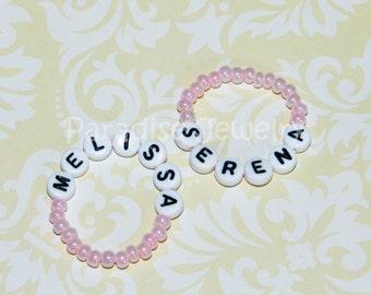 Twin ID Bracelets Identical Twin Girls Pink Baby ID Bracelet Twin Bracelets Newborn ID Bracelets Set Of Two Twin Girls Bracelets