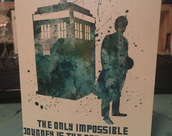 Doctor Who inspirational/ encouragement card