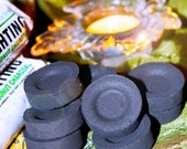 10 Premium COCONUT SHELL Quick Lighting Incense Disks/Instant Light Charcoal Tablets for Resin/Herbal Medicine/Herbs/Pagan Witch Supply Tool