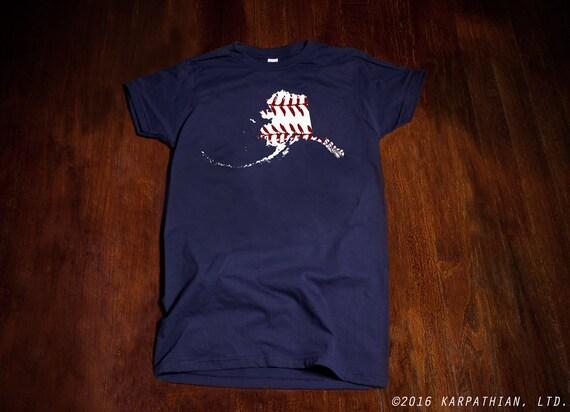 FREE SHIPPING Alaska baseball Ladies junior fit t-shirt in  Buy Any 3 Shirts Get a 4th FREE