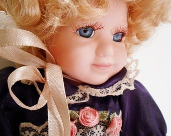 """Porcelain Doll Victorian Style by Victoria's Garden Mini @ 10"""""""