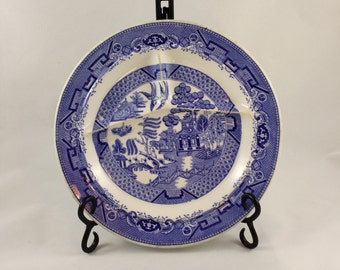 Vintage Jackson China Blue Willow Grill Plate/ Vitrified Restaurant Ware