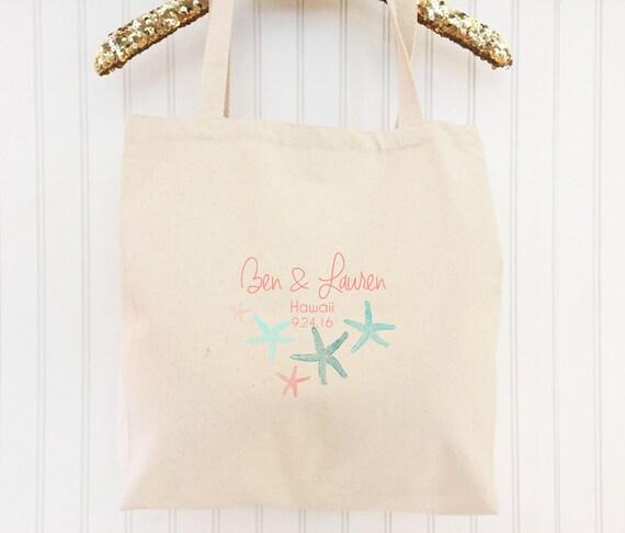 Destination Wedding Beach Bag Gift For Bride To Be Custom Tote