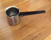"""Vintage Heavy Weight Stainless Steel  Melting Pot with  5"""" Bakelite  Handle and  Covenient Pour  Spout"""