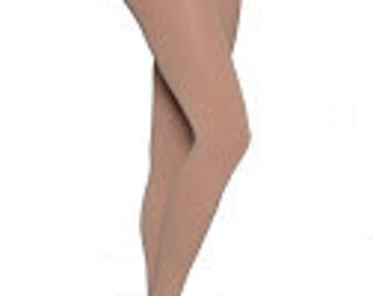Skin Toned Footed Opaque Tights