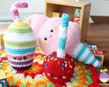 Amigurumi Food Carnival Party  Crochet Pattern Play food!