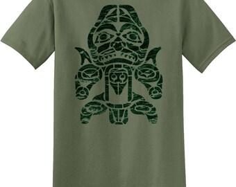 Pacific Northwest Totem, Native Art, Tribal, Alaska Inspired T-shirt 11373