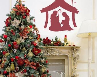 Christmas Decor - Christmas Nativity - Christmas Wall Decals - Nativity Christmas Wall Decal Set - Nativity - Christmas Decorations