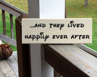 Disney Happily Ever After, Disney Wood Sign, Disney Wedding, Disney Bridal Shower, Disney Home Sign, Disney Decor