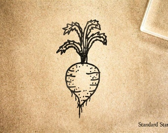 Radish Rubber Stamp - 2 x 2 inches