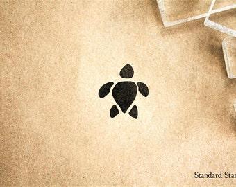 Little Sea Turtle Silhouette Rubber Stamp - 1 x 1 inches