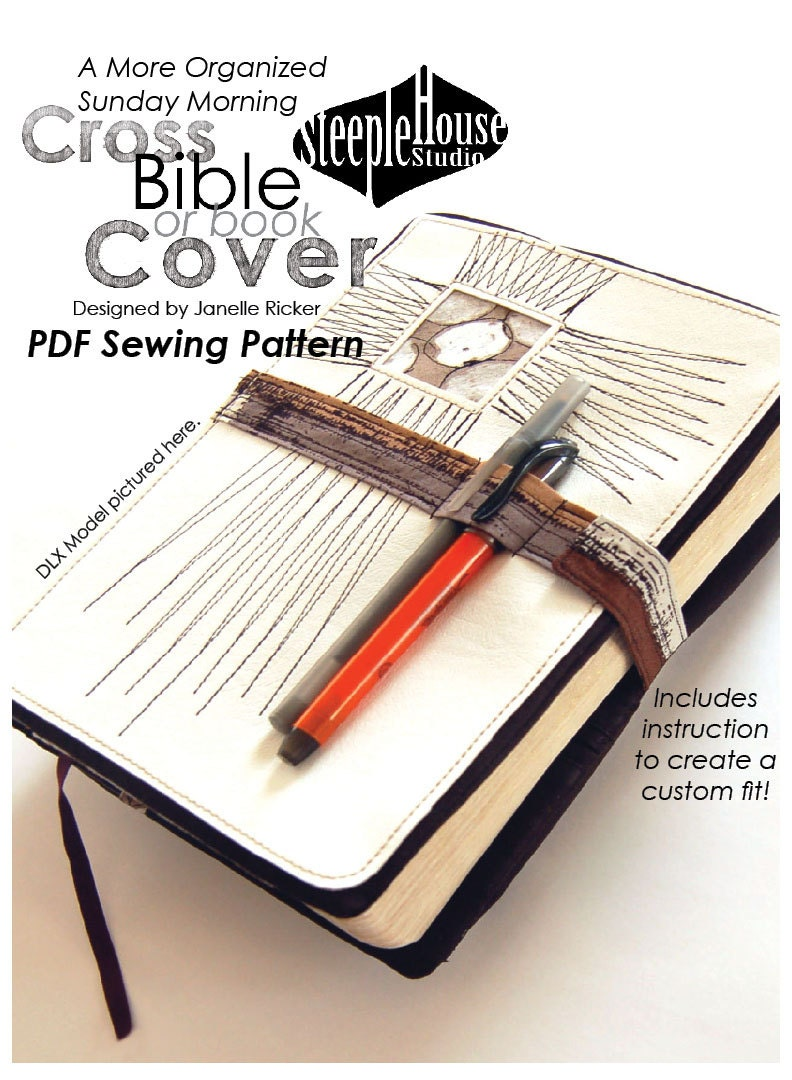 Adjustable Book Cover Pattern ~ Pdf sewing pattern a more organized sunday morning