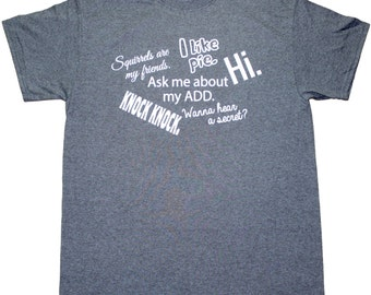 Ask Me About My A.D.D. Funny Mens Adult T-shirt Heather Black