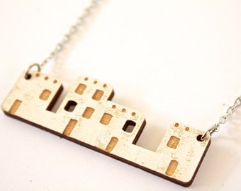 Adobe House Necklace, New Mexico Necklace, House Necklace, Houses, Adobe House