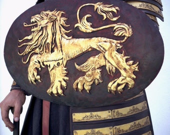 Lannister Red Guard Shield, Shield GOT, shield medieval fantasy, Shield Game of Thrones