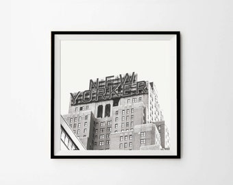 New Yorker Print, New York Photography, Black and white, 8 x 8, 10 x 10, 12 x 12, New York Pictures, Instant download