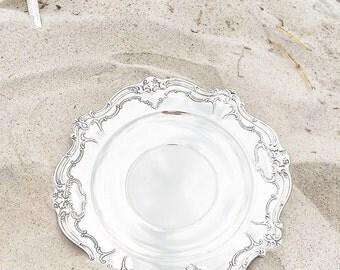 Antique Silver Wedding Plate