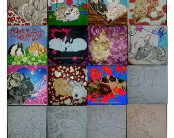 Bunny Anytime Valentine Card Series, 24 Exchange Cards