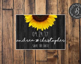 Sunflower Wedding Save The Date