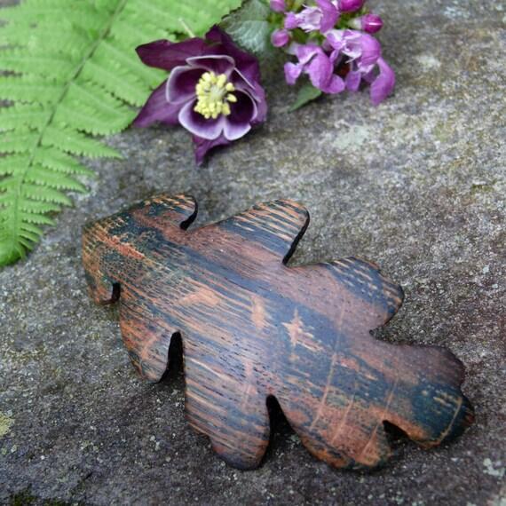 Nature Lover Hair Clip, Oak Leaf Jewelry, Autumn Hair Accessories, Autumn Leaves, Organic Natural Hair, 80mm French barrette