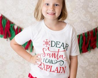 I Can Explain Shirt - I Can Explain - Kid Santa Shirt - Unisex Santa Shirt - Kids Christmas Shirt - Christmas Quote Shirt - Christmas Outfit
