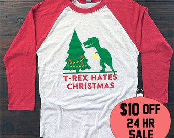 Dinosaur Ugly Christmas Sweater. Dinosaur Shirt. Dinosaur Sweater