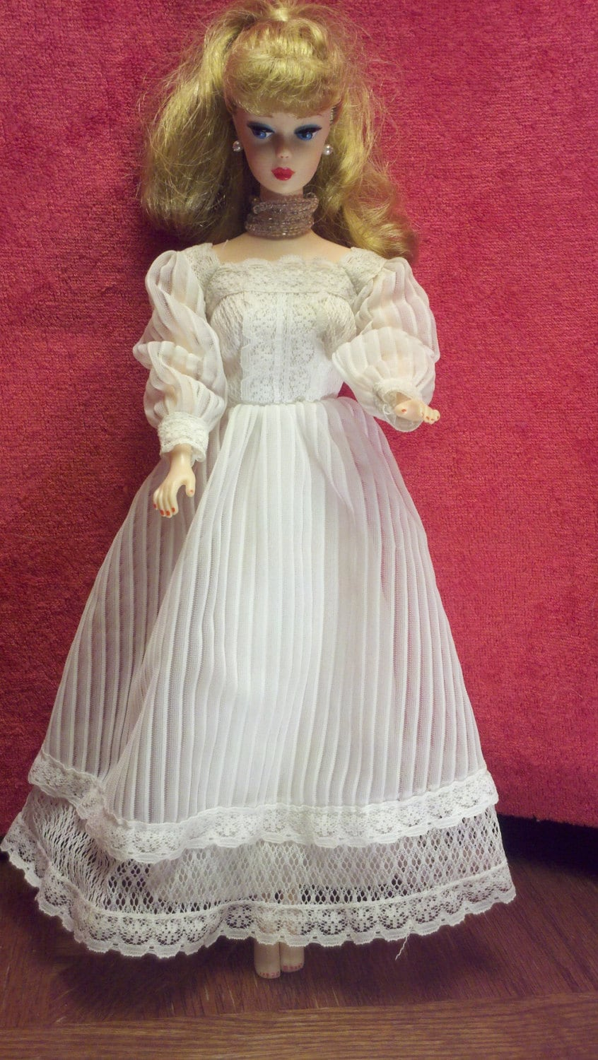 Vintage barbie doll wedding dress tagged for Wedding dresses for barbie dolls