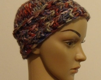 Colourful knitted Cap made of thick Wick yarn
