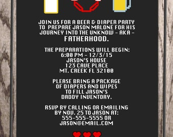 Beer And Diaper Party Invitations gangcraftnet