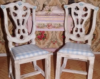 Dolls House 12th scale 2 Chairs