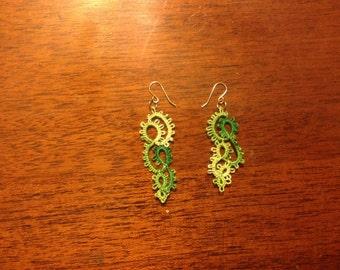 Handmade Needle Tatted Earrings