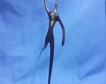An Abstract Cast Iron Sculpture
