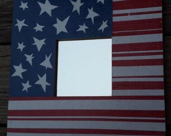 Decoupage Mirror: Whimsical American Flag