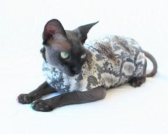 "Designer Cat Shirt ""VENOM"" Summerweight Cat Clothing"